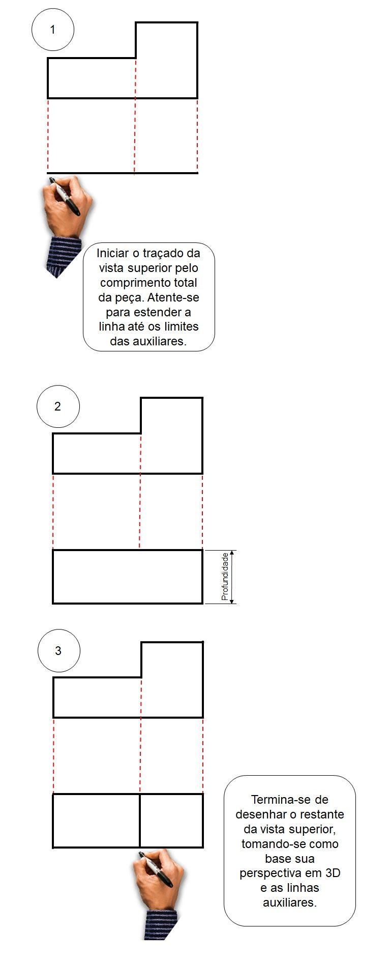 Desenho Técnico Passo A Passo Para Desenhar Vistas Ortogonais